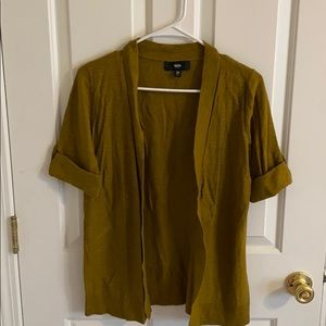 Short sleeve olive green cardigan